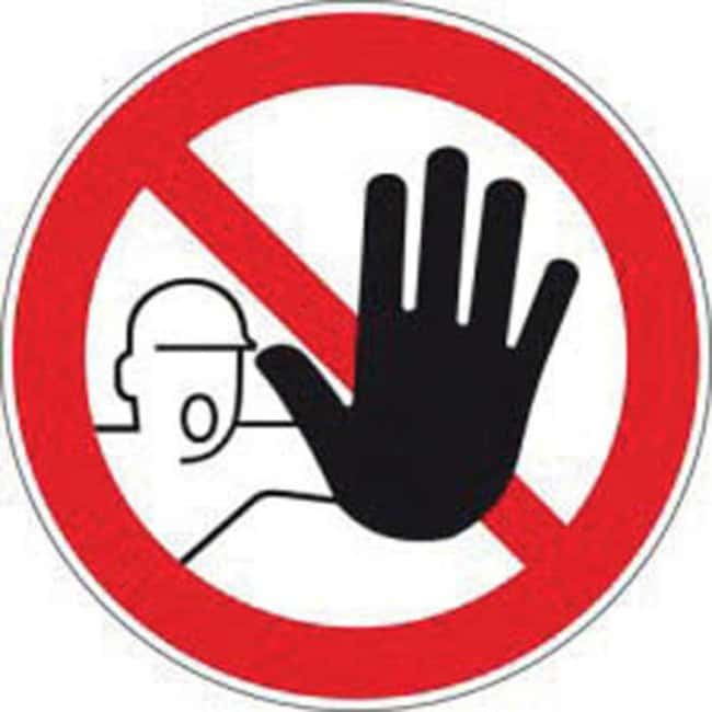 Brady™Laminated Polyester Unauthorized Access Prohibited Signs Dia.: 100mm Brady™Laminated Polyester Unauthorized Access Prohibited Signs