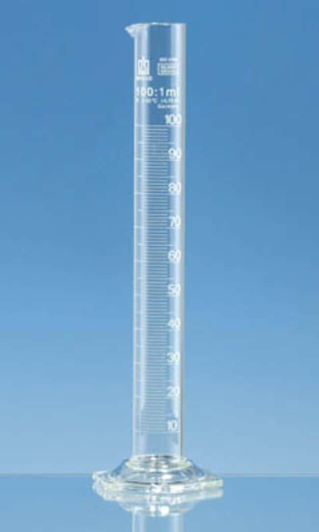 Brand™ Silberbrand™ Class B Borosilicate Glass Tall Form Measuring Cylinders Capacity: 250mL Brand™ Silberbrand™ Class B Borosilicate Glass Tall Form Measuring Cylinders