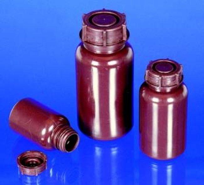 Buerkle™Braune LDPE-Rundflaschen mit weiter Öffnung Fassungsvermögen: 250ml Buerkle™Braune LDPE-Rundflaschen mit weiter Öffnung