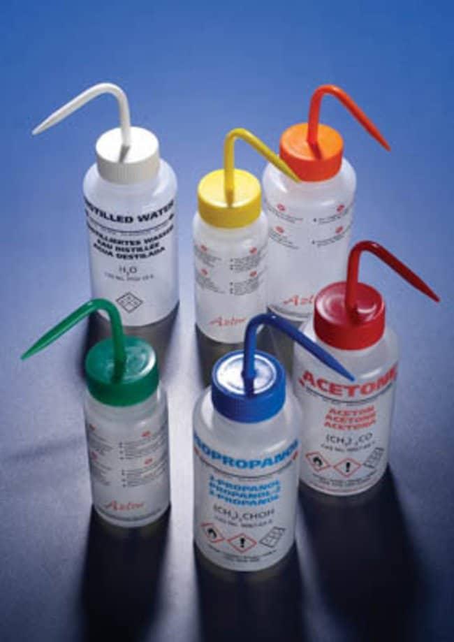 Azlon™LDPE Multi-lingual Printed Wash Bottles White cap; Distilled water label; Capacity: 250mL Azlon™LDPE Multi-lingual Printed Wash Bottles
