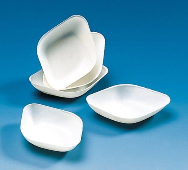 Kartell™High Impact Polystyrene Balance Boats White; Size: 43 x 43 x 8mm Kartell™High Impact Polystyrene Balance Boats