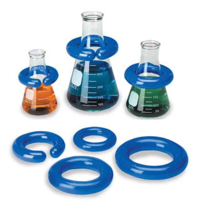 Fisherbrand™Anillo de plomo recubierto de vinilo Inner Diameter: 51mm; Sufficient For: Fits 250 to 1000mL; Weight: 508g Fisherbrand™Anillo de plomo recubierto de vinilo