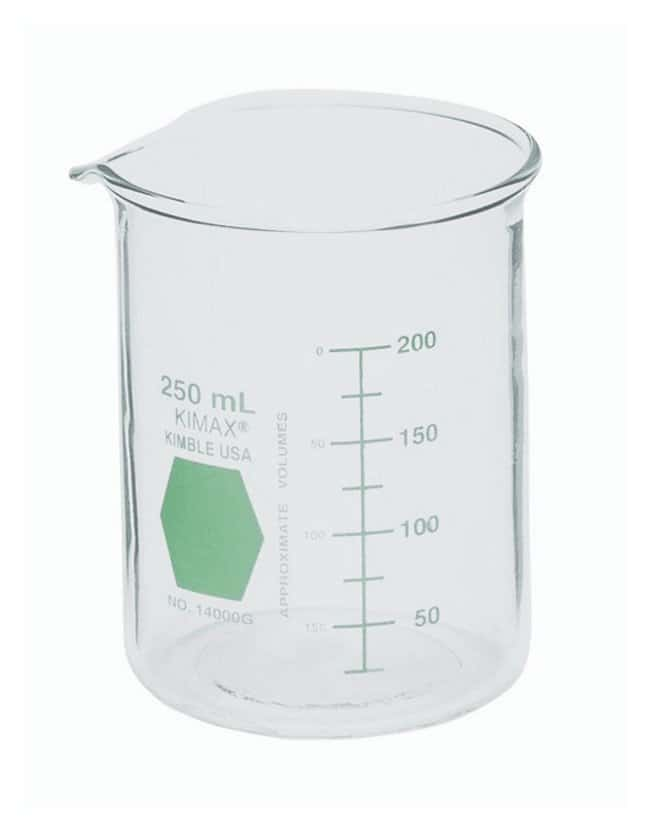 DWK Life Sciences Kimble  KIMAX  Colorware  Low-Form Beakers, green