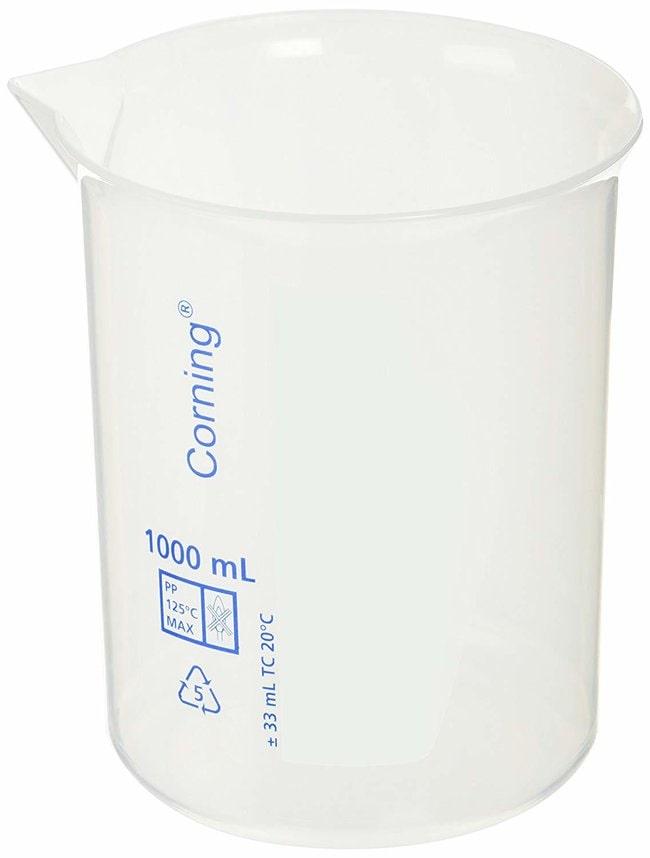 Corning™Reusable Polypropylene Low-Form Beakers, Graduated