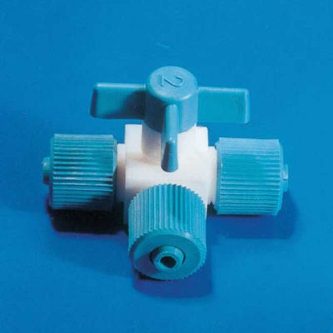 Fisherbrand™ PTFE T-Type Valve with Screw Lock Bore: 4mm Fisherbrand™ PTFE T-Type Valve with Screw Lock