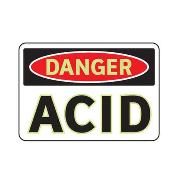 Brady Aluminum Danger Sign: ACID:Gloves, Glasses and Safety:Facility Maintenance