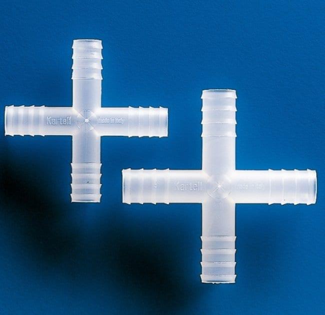 Kartell™Plastilab™ Polypropylene 4-Way Connectors Size: 7mm Bore; Quantity: 100/pk Kartell™Plastilab™ Polypropylene 4-Way Connectors