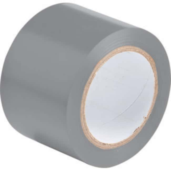 Brady Marking Tape Roll: Adhesive Vinyl, Solid Color, Gray Adhesive Vinyl,