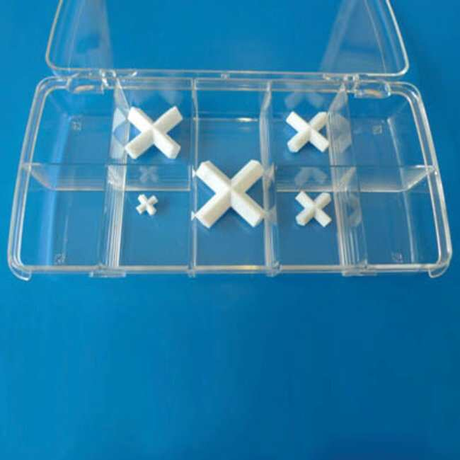 Fisherbrand™ Stir Bar Box Set, Cross-Shaped Includes: 5 Cross Stirrer Bars 1 each of 10x10, 20x20, 25x25, 30x30, 38x38 mm Stir Bars