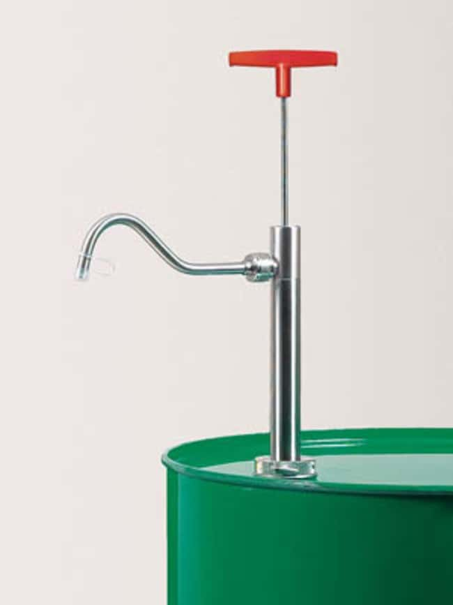 Buerkle™Stainless Steel Barrel Pump with Discharge Tube Flow Rate: 220mL/stroke Buerkle™Stainless Steel Barrel Pump with Discharge Tube