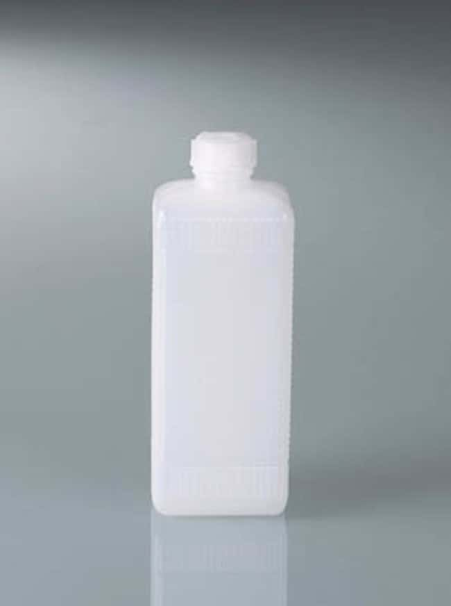 Buerkle™ Tall HDPE Narrow Neck Square Bottles with