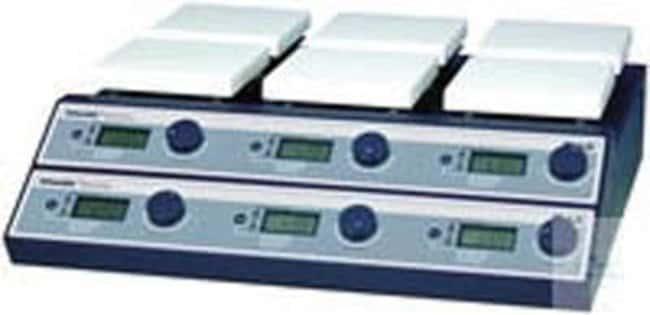 Witeg™DHWMH03506 Mehrfach-Magnetruehrer mit Heizung SMHS-6 Speed: 80 to 1.500 RPM Kombinations-Rühr-Heizplatten