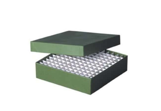 Fisherbrand™ Cardboard Cryoboxes, 133mm Color: Green; Dimensions (L x W x H): 133 x 133 x 100mm Fisherbrand™ Cardboard Cryoboxes, 133mm