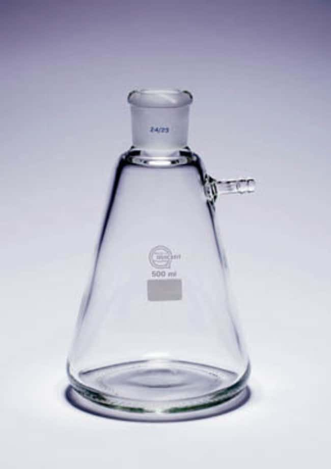 Quickfit™ Plain Side-Arm and Ground Socket Büchner Flask Capacity: 500mL; Socket: 24/29 Quickfit™ Plain Side-Arm and Ground Socket Büchner Flask