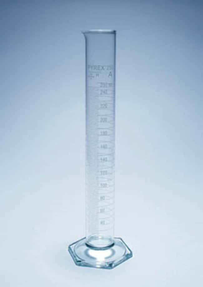 Pyrex™ Glass Graduated Cylinder, Class A Capacity: 250mL; Graduations: 2mL Pyrex™ Glass Graduated Cylinder, Class A