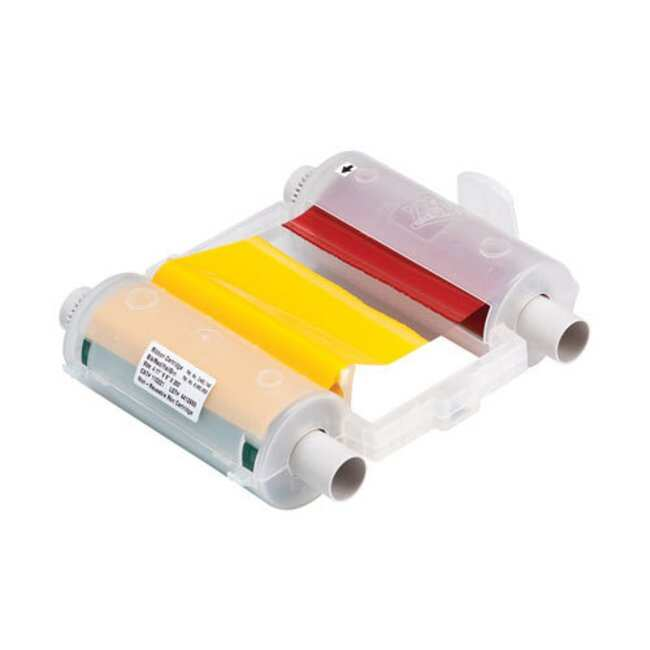 Brady GlobalMark Series Printer Ribbon - R4400 Resin, Black/Green/Red/Yellow