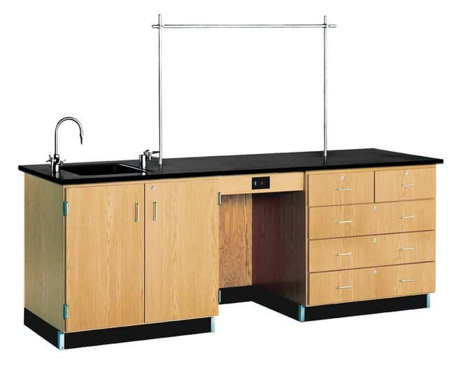 Diversified Woodcrafts Instructor Desk   With sink:Teaching Supplies