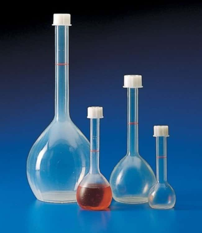 Kartell™ (TPX™) PMP Volumetric Flask with Screw Cap Capacity, Metric: 1000mL Kartell™ (TPX™) PMP Volumetric Flask with Screw Cap