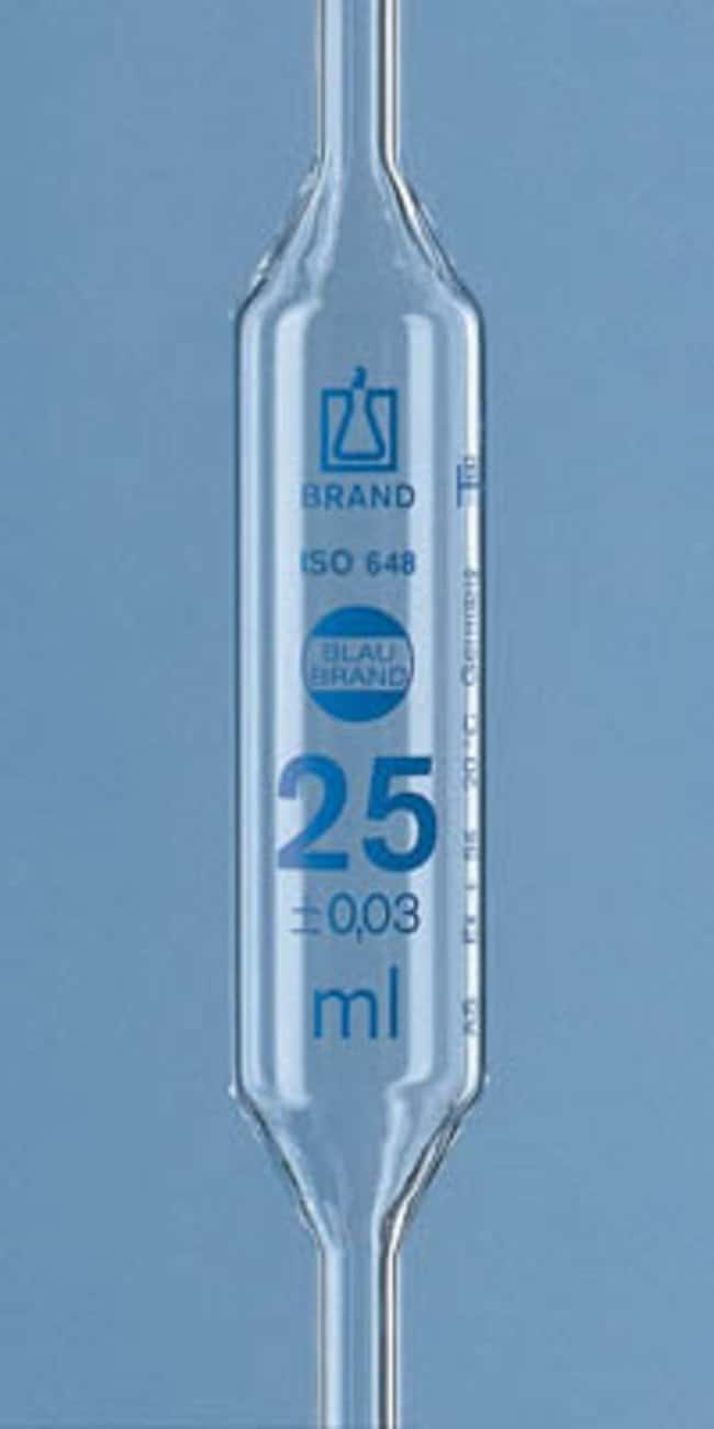 Brand™ Blaubrand™ One-Mark Bulb Pipettes, with Certificate 2,5 ml Brand™ Blaubrand™ One-Mark Bulb Pipettes, with Certificate