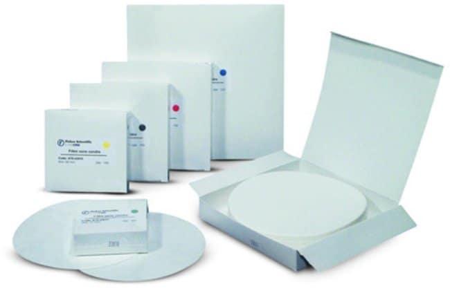 Fisherbrand™Papiers filtres quantitatifs sans cendre, qualité13, filtrage moyen: Page d'accueil