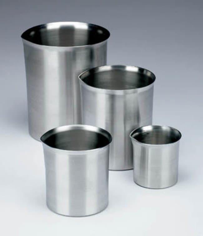 Nickel Electro™Aluminum Beakers with Spout: Beakers   50mL, 250mL, 500mL   Fisher Scientific Beakers, Bottles, Cylinders and Glassware