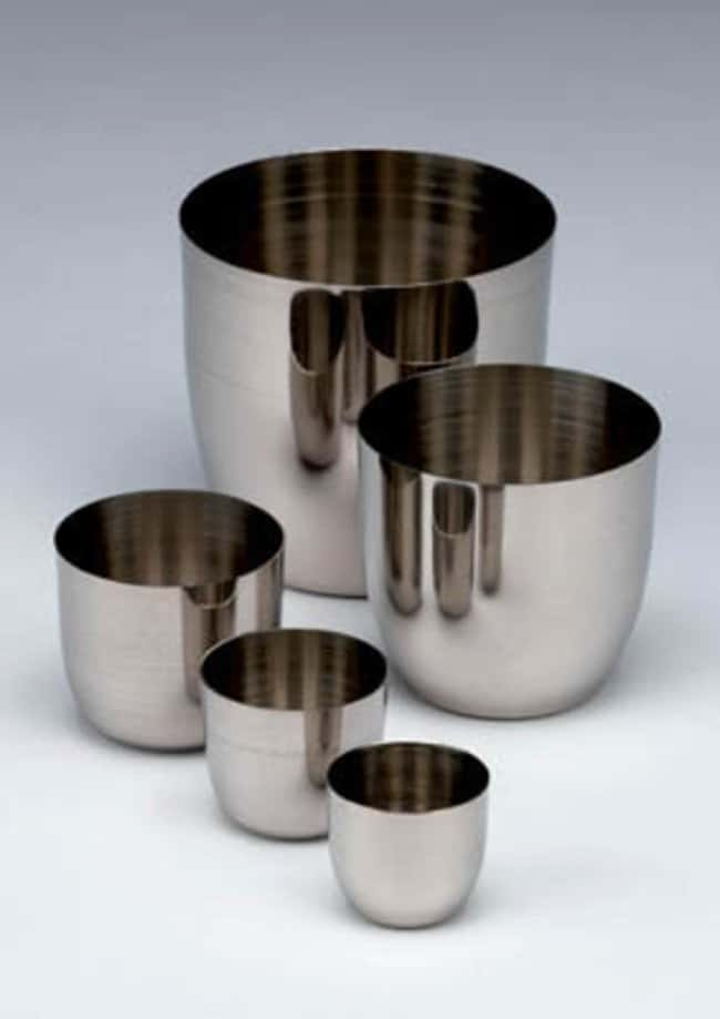 Nickel Electro™Laboratory Stainless Steel Crucibles: Crucibles Beakers, Bottles, Cylinders and Glassware