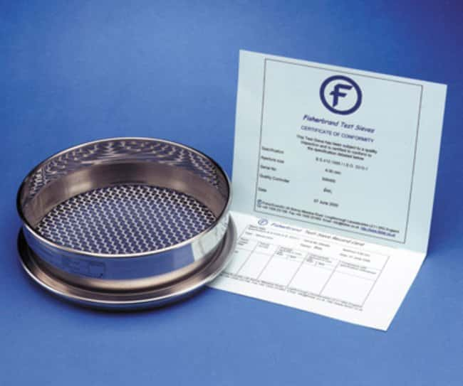 Fisherbrand™ Stainless Steel Test Sieve with Woven Wire Mesh: Home