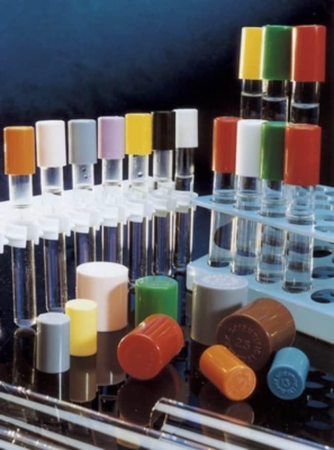 Fisherbrand™Plastic Lock Bacti Caps Closure Color: Black Products