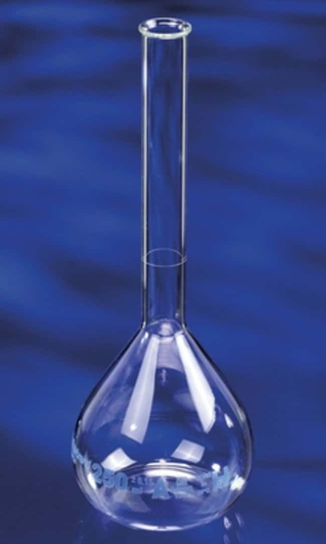 Fisherbrand™ Clear Borosilicate Glass Volumetric Flasks Capacity: 50mL Fisherbrand™ Clear Borosilicate Glass Volumetric Flasks