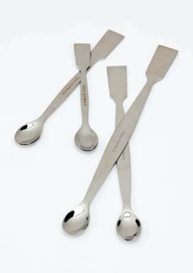 Fisherbrand™Stainless Steel Dual Spoon/Spatulas Dimensions (L x W): 100 x 10mm Spatulas