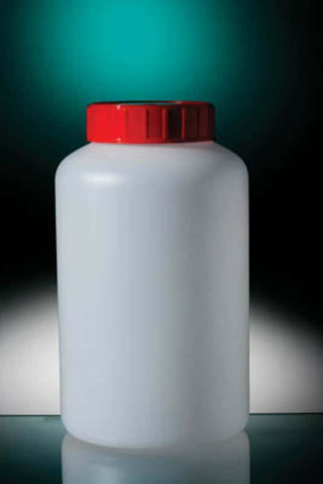 Gosselin™runde HDPE-Flaschen, naturfarben Red HDPE screw cap with separate seal; Non-sterile Gosselin™runde HDPE-Flaschen, naturfarben
