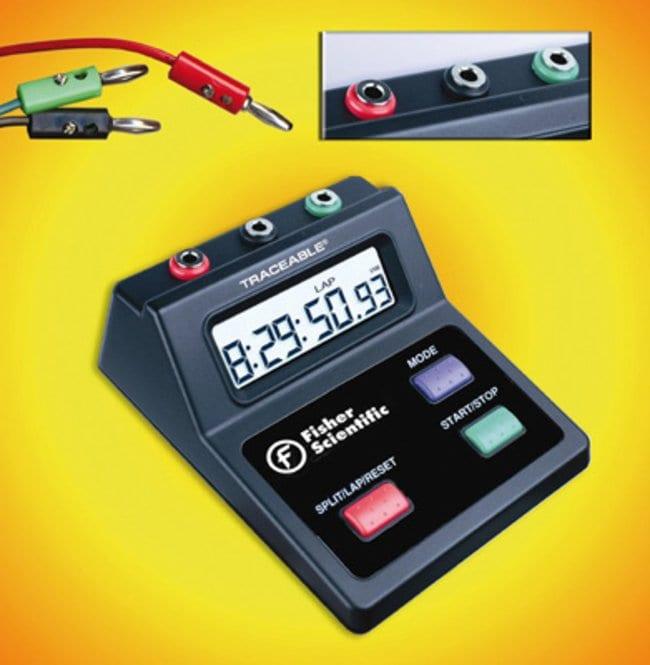 Fisherbrand™Minuteur à grand affichage Dimensions: 100 x 120 x 45mm; Time Range: 10 hrs. Minuteurs à détection de mouvements