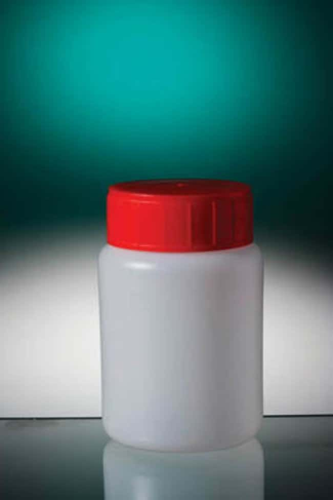 Gosselin™ Round HDPE 100 mL Bottles Red HDPE screw cap with wad; Non-sterile Gosselin™ Round HDPE 100 mL Bottles