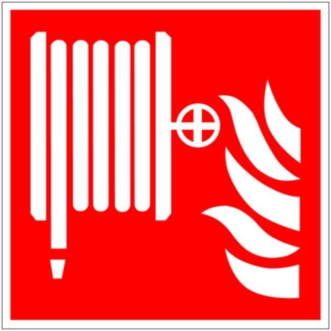 Brady™Rigid Polypropylene Fire Hose Fire Safety Signs Dimensions (L x H): 100 x 100 mm Brady™Rigid Polypropylene Fire Hose Fire Safety Signs