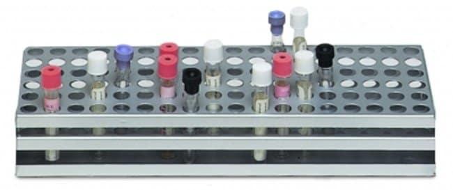 Wesbart™Teströhrchen-Gestell mit zwei Ebenen Aufnahmevermögen: Bis zu 40 Reagenzgläser, 20 mm Durchmesser Wesbart™Teströhrchen-Gestell mit zwei Ebenen