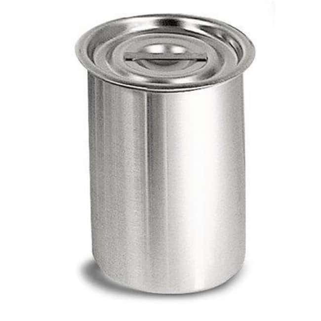 Cole-Parmer™ Stainless Steel Covered Container Capacity: 4300mL Cole-Parmer™ Stainless Steel Covered Container