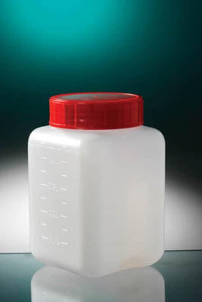 Gosselin™Flacons carrés gradués de 500ml en HDPE naturel Gosselin™: Bottles Bouteilles, Bocaux et Carafes