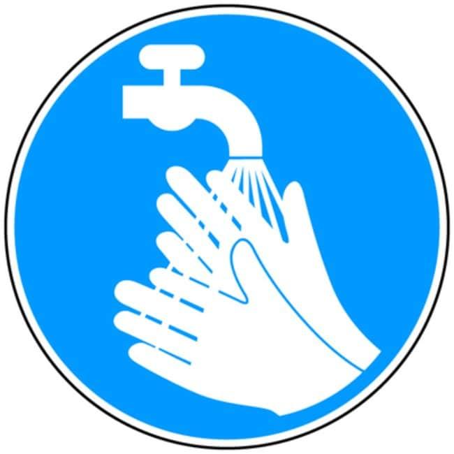 Brady™Aluminum Wash Hands Signs Dia.: 315mm Brady™Aluminum Wash Hands Signs