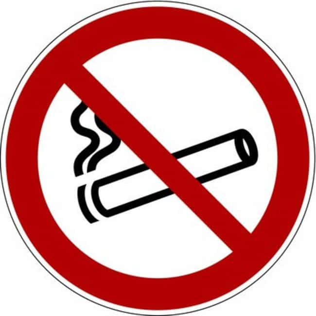 Brady™ Rigid Polypropylene No Smoking Signs Dia.: 100mm Brady™ Rigid Polypropylene No Smoking Signs