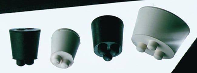 Cole-Parmer™Gummistopfen, drehbar: Flaschenverschlüsse Flaschen, Gefäße und Kannen