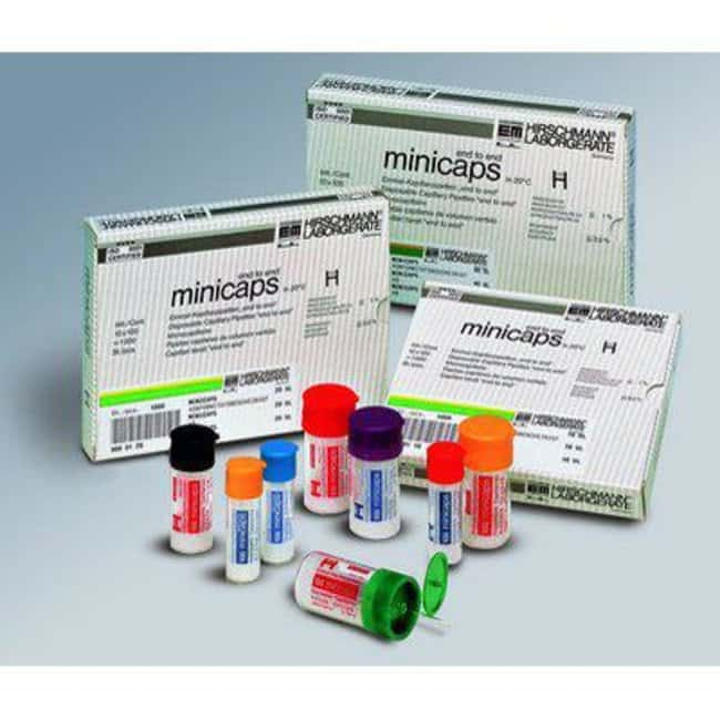Hirschmann™minicaps™ Micro Capillary Pipettes, Disposable: Pipets Pipettors, Pipettes, and Pipettor Tips