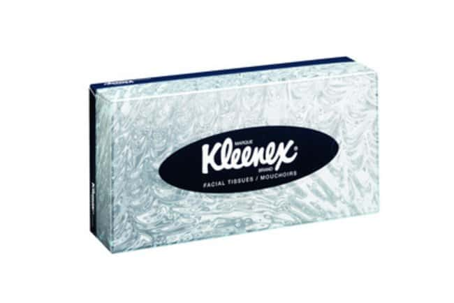 Kimberly-Clark™ Professional Kleenex™ Facial Tissues Dimensions: 21.5 x 18.6cm Products