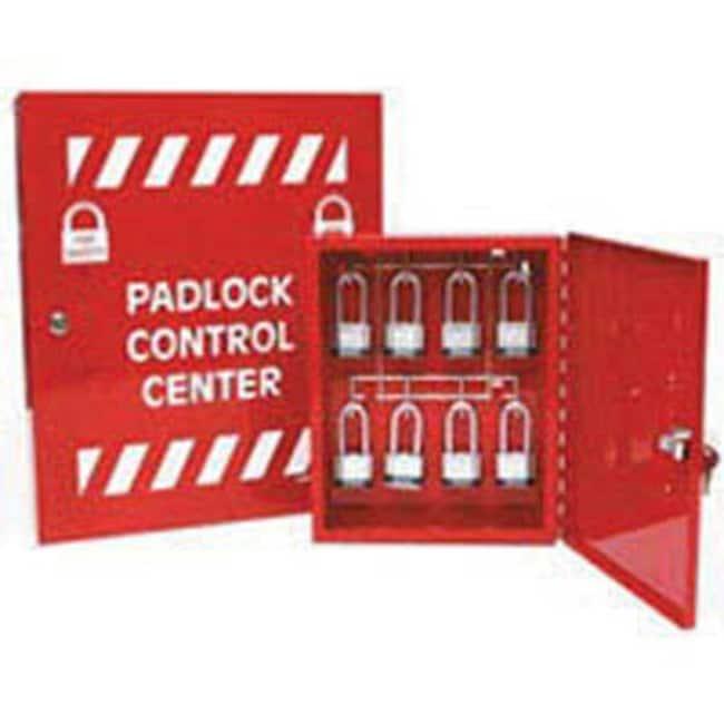 Brady™Powder Coated Steel Padlock Control Centre Dimensions (H x W x D): 254 x 305 x 50mm, 8 Hooks Brady™Powder Coated Steel Padlock Control Centre