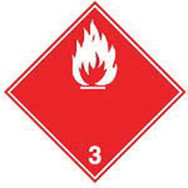 Brady™Laminated Polyester ADR 3b Flammable Liquid Transport Signs Dimensions (W x H): 100 x 100mm, 1Pack Brady™Laminated Polyester ADR 3b Flammable Liquid Transport Signs