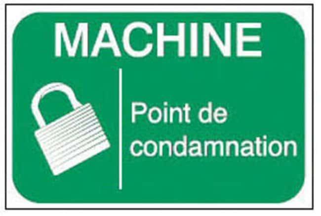 Brady™Adhesive Warning Labels Message: Danger: Point de conviction Brady™Adhesive Warning Labels