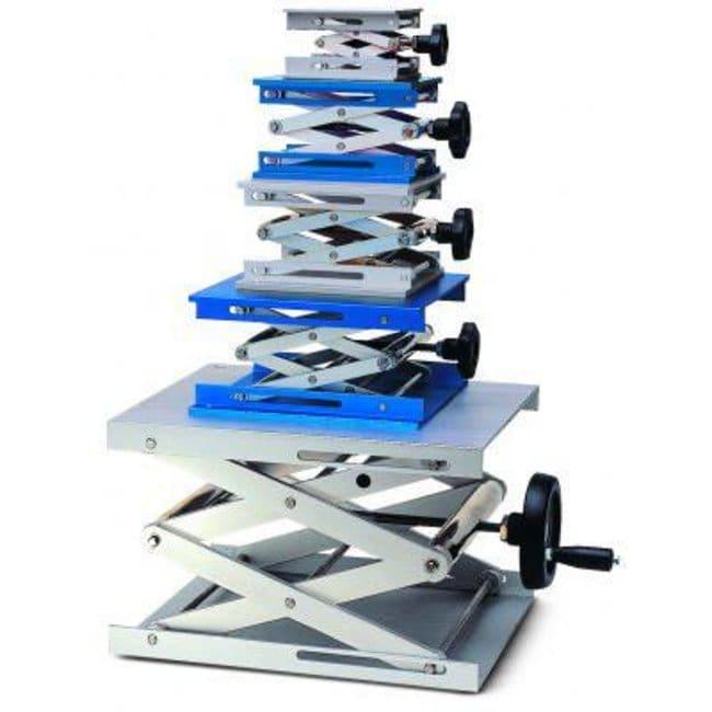 Rogo Sampaic™Lab-Jack Hebebühne aus Aluminium: Halterungen für Kolben, Zylinder und Apparaturen Clamps, Stands and Supports