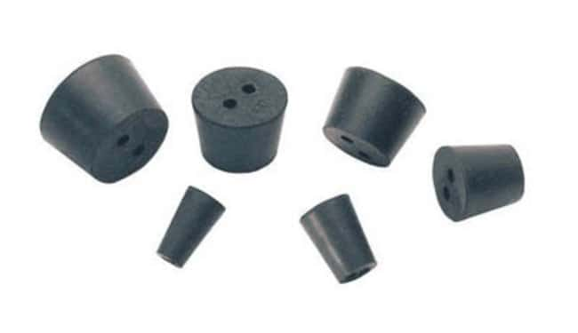Cole-Parmer™ Two-Hole Rubber Stopper Standard Size: 5 Products