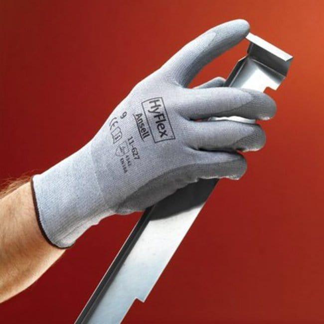 Ansell HyFlex 11-627 Series Gray Polyurethane Medium Weight Gloves:Gloves,
