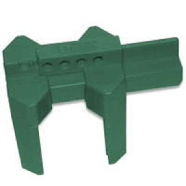 Brady™ Polypropylene Prinzing Ball Valve Lockout Green; Width: 134.29mm Brady™ Polypropylene Prinzing Ball Valve Lockout