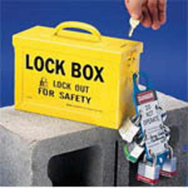 Brady™ Mild Sheet Steel Portable Metal Group Lock Box